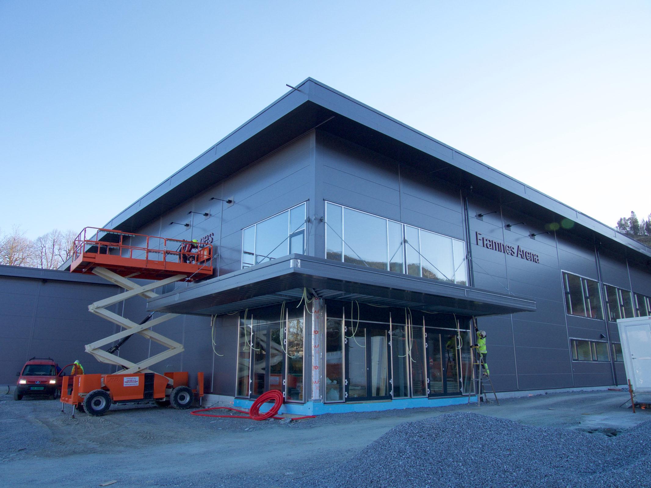 Fasaden snart ferdig