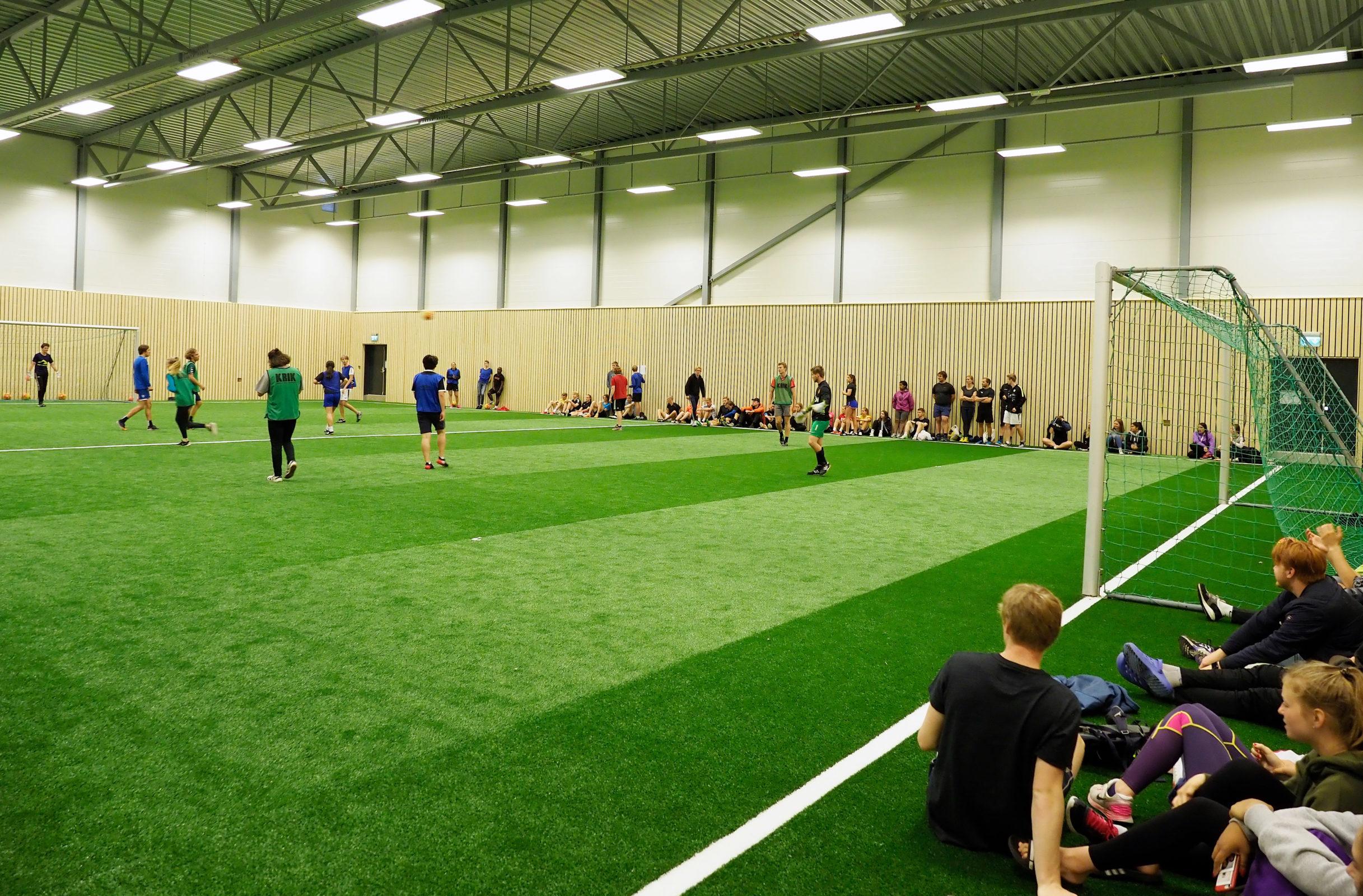 Aktivitetsdag 2017, første fotballturneringa i den nye hallen